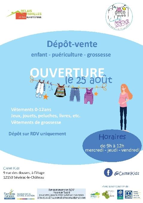 Dépôt-vente enfant - puériculture - jeunesse au Relais Familles
