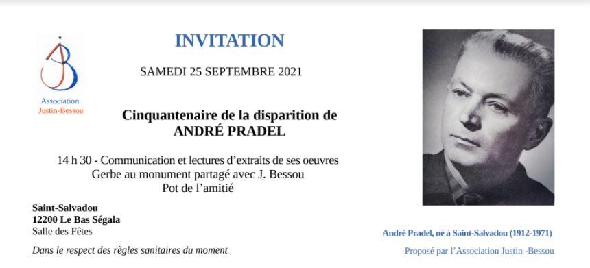 célébration du cinquantenaire de la disparition d'André Pradel