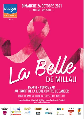 La Belle de Millau - Marchons ensemble contre le cancer - Octobre Rose (Festival des Templiers)