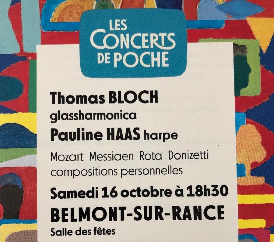 Tarif réduit Concert de Poche avec Thomas Bloch et Pauline Haas ©Office de Tourisme Rougier d'Aveyron Sud