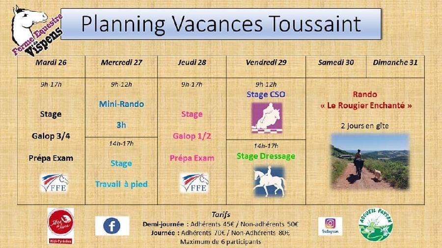 Vacances de la Toussaint à Vispens
