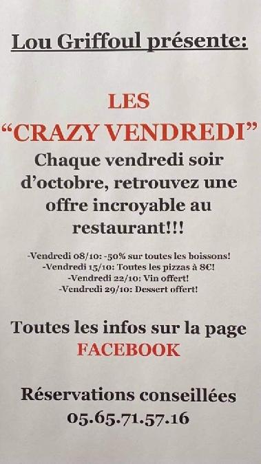 Restaurant Lou Griffoul les Crazy Vendredi