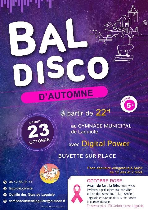 Bal disco d'Automne à Laguiole