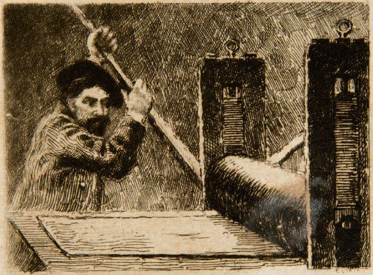 Découverte et démonstration de gravure à l'eau-forte
