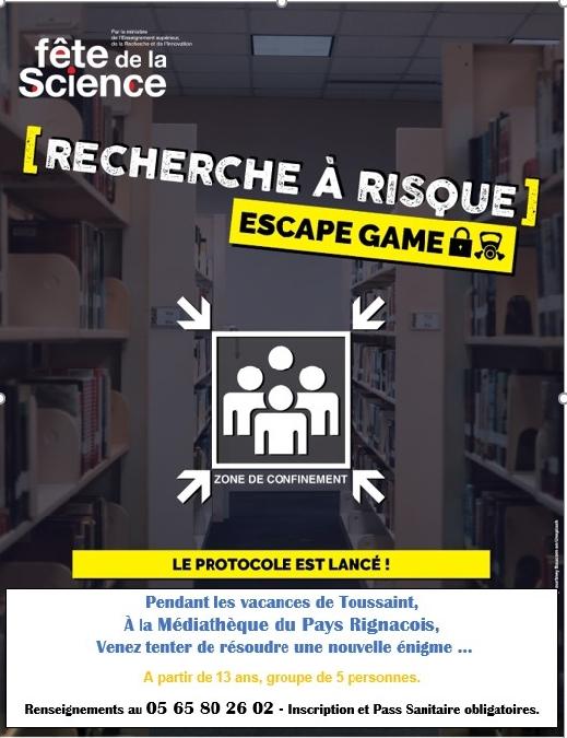 Escape Game à la médiathèque du Pays Rignacois