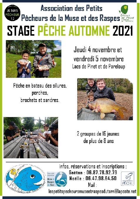 Stage pêche automne 2021