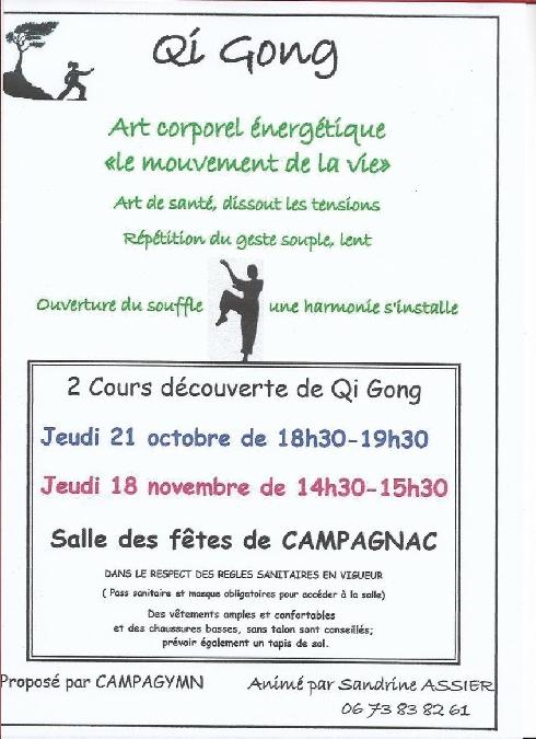 atelier découverte du Qi Gong à Campagnac
