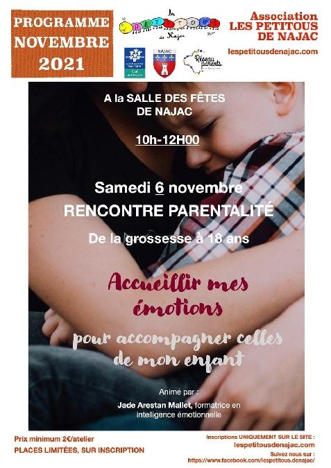 Programme de novembre de l'association